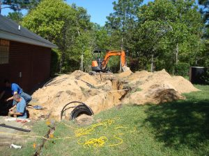 geothermal installation in progress